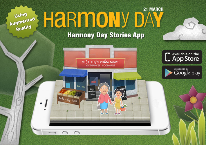 Harmony Day Stories Augmented Reality AR Mobile App Sydney Brisbane Canberra