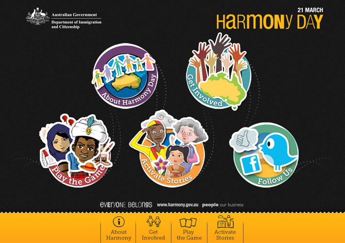 Harmony Day Stories Augmented Reality App